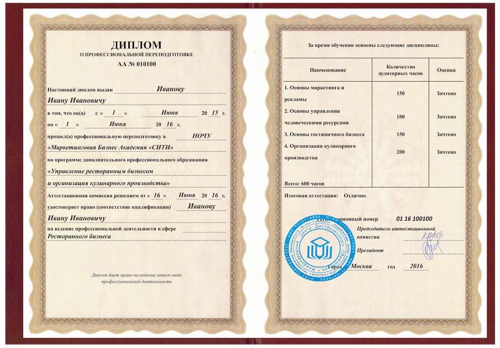 Дистанционный mini mba курс УПРАВЛЕНИЕ РЕСТОРАННЫМ БИЗНЕСОМ И  Лицензии
